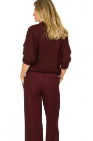 Be Pure | Knitted sweater Babette | burgundy  | Picture 5