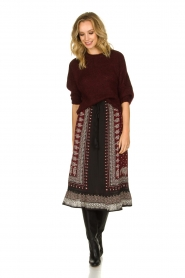 Be Pure | Knitted sweater Babette | burgundy  | Picture 6