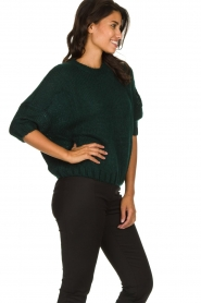 Be Pure | Knitted sweater Babette | green  | Picture 4