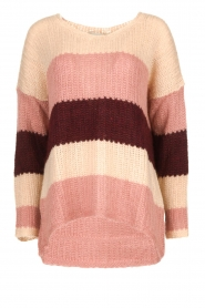 Be Pure | Knitted stripe sweater Tamara | nude  | Picture 1
