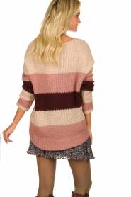 Be Pure | Knitted stripe sweater Tamara | nude  | Picture 5