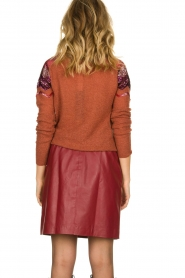 Fracomina |  Knitted sweater with sequins Madera | red  | Picture 5