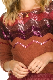 Fracomina |  Knitted sweater with sequins Madera | red  | Picture 6