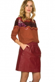 Fracomina    Knitted sweater with sequins Madera   red    Picture 4