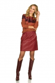 Fracomina    Knitted sweater with sequins Madera   red    Picture 3