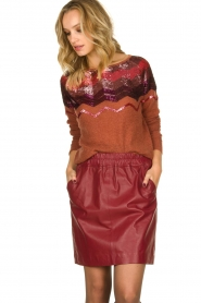 Fracomina    Knitted sweater with sequins Madera   red    Picture 2