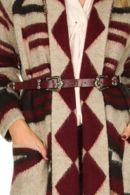 Fracomina |  Cardigan with belt Nomi | black  | Picture 6