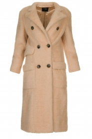Fracomina |  Double-breasted coat Mandrea | beige  | Picture 1