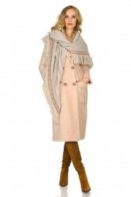 Fracomina |  Double-breasted coat Mandrea | beige  | Picture 6