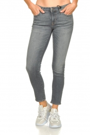 7 For All Mankind |  Cropped skinny jeans with Swarovski Pyper | grey  | Picture 2