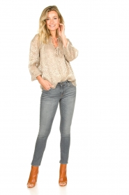 7 For All Mankind |  Cropped skinny jeans with Swarovski Pyper | grey  | Picture 3
