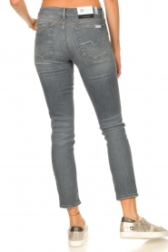 7 For All Mankind |  Cropped skinny jeans with Swarovski Pyper | grey  | Picture 6