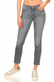 7 For All Mankind |  Cropped skinny jeans with Swarovski Pyper | grey  | Picture 4