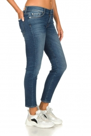 7 For All Mankind |  Cropped skinny jeans Roxanne Vintage | dark blue  | Picture 4