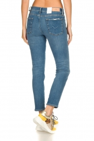 7 For All Mankind |  Cropped skinny jeans Roxanne Vintage | dark blue  | Picture 5