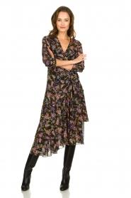 Patrizia Pepe |  Floral dress Julia | black  | Picture 2