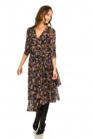 Patrizia Pepe |  Floral dress Julia | black  | Picture 3