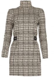 Patrizia Pepe |  Houndstrooth printed dress Benedict | beige  | Picture 1