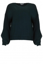 Patrizia Pepe |  Knitted sweater with puff sleeves Daphne | blue  | Picture 1
