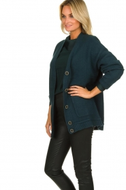 Patrizia Pepe |  Buttoned cardigan Anouk | green  | Picture 4