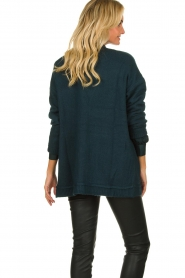 Patrizia Pepe |  Buttoned cardigan Anouk | green  | Picture 5