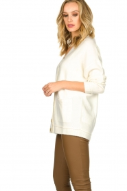 Patrizia Pepe |  Buttoned cardigan Anouk | natural  | Picture 4