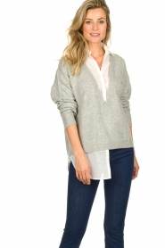 Patrizia Pepe | Sweater with blouse Susan | grey  | Picture 3