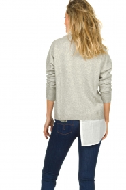 Patrizia Pepe | Sweater with blouse Susan | grey  | Picture 4