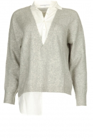 Patrizia Pepe | Sweater with blouse Susan | grey  | Picture 1