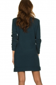 Patrizia Pepe |  Sweater dress with fringes Micky | blue  | Picture 5