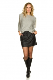 Patrizia Pepe |   Sweater with beaded decoration Emma | grey  | Picture 3