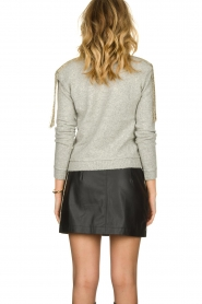 Patrizia Pepe |   Sweater with beaded decoration Emma | grey  | Picture 5