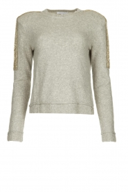 Patrizia Pepe |   Sweater with beaded decoration Emma | grey  | Picture 1