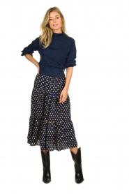 Patrizia Pepe |  Glittery sweater Jaidinn | blue  | Picture 2