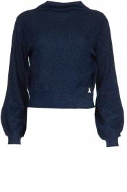 Patrizia Pepe |  Glittery sweater Jaidinn | blue  | Picture 1