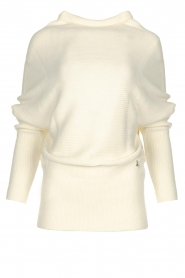 Patrizia Pepe |  Knitted oversized sweater Janey | white  | Picture 1