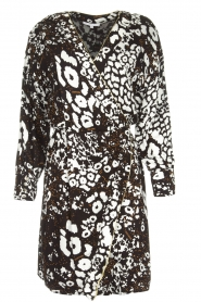 Patrizia Pepe |  Leopard print dress Barbara | black & white  | Picture 1