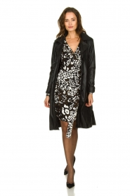 Patrizia Pepe |  Leopard print dress Barbara | black & white  | Picture 3