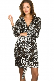 Patrizia Pepe |  Leopard print dress Barbara | black & white  | Picture 2