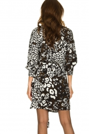 Patrizia Pepe |  Leopard print dress Barbara | black & white  | Picture 5