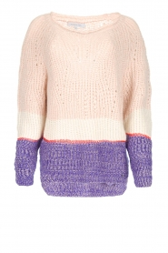 Patrizia Pepe |  Knitted multi-coloured sweater Alessia | multi  | Picture 1