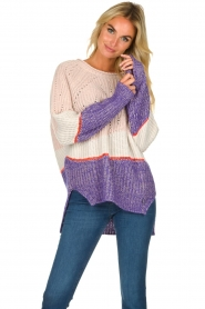 Patrizia Pepe |  Knitted multi-coloured sweater Alessia | multi  | Picture 2