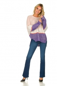 Patrizia Pepe |  Knitted multi-coloured sweater Alessia | multi  | Picture 3