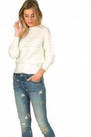 Patrizia Pepe |  Beaded sweater Heather | natural  | Picture 2