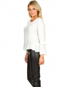 Patrizia Pepe |  Blouse with ruffles Tia | white  | Picture 5