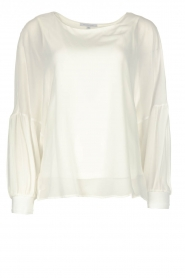 Patrizia Pepe |  Blouse with puff sleeves Rinnie | white  | Picture 1