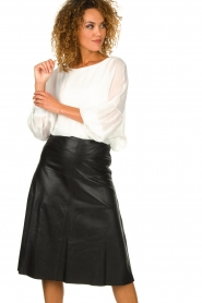 Patrizia Pepe |  Blouse with puff sleeves Rinnie | white  | Picture 4