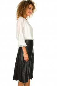 Patrizia Pepe |  Blouse with puff sleeves Rinnie | white  | Picture 5