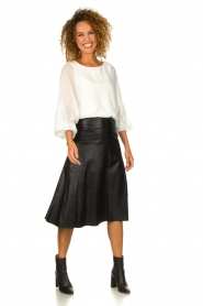 Patrizia Pepe |  Blouse with puff sleeves Rinnie | white  | Picture 3