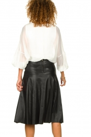Patrizia Pepe |  Blouse with puff sleeves Rinnie | white  | Picture 6